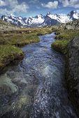 Scenic mountain stream in the Italian alps Europe