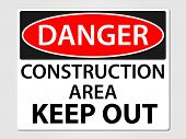 Danger construction sign vector illustration