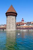 Lucern - famous swiss medieval town on the Reuss river