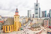 Skyline Of Frankfurt With Hauptwache And The Plaza