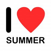 Font Type Illustration - I Love Summer