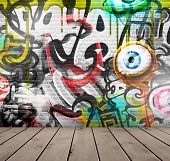 picture of graffiti  - Graffiti on wall - JPG