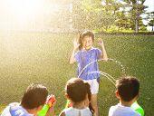 Little Girl Punishment For Water Gun Spray To Wet Body