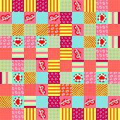 stock photo of scrappy  - scrappy pattern for Valentines Day for design - JPG