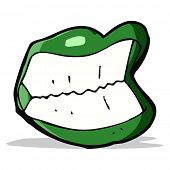 cartoon grinning halloween mouth