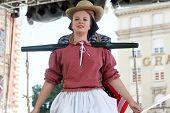 ZAGREB, CROATIA - JULY 19: Members of folk group Hasselt (Flanders), Folk Group De Boezeroenen from Belgium during the 48th International Folklore Festival in center of Zagreb,Croatia on July 19, 2014