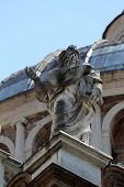 PARMA, ITALY - MAY 01, 2014: Statue of Saint. Basilica Santa Maria della Steccata. Basilica is a Marian shrine made ??in Parma between 1521 and 1539 and in 2008 elevated to the rank of minor basilica