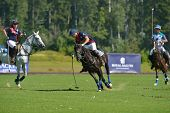TSELEEVO, MOSCOW REGION, RUSSIA - JULY 26, 2014: Match British Schools - Moscow Polo Club during the