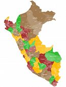 foto of ica  - A large and detailed map of Peru with all regions - JPG