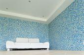 beautiful villa, indoor pool, white divan