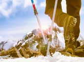 Ski mountain poles