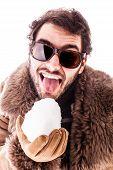 Licking A Snowball