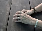 Weary female hands