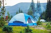 Camping Tent In Colorado