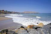 Coastline In Miraflores District In Lima, Peru,