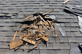 image of shingles  - Roof construction site - JPG