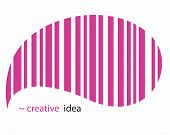 Creative vector EAN pink striped pictogram
