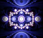 Abstract Fractal Pattern In Blue And White.