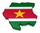 Suriname (clipping path included)