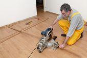 Laminate Flooring Of Room, Batten Cuting