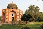Delhi, India, November 25, 2012: Humayun's Tomb, Architectural Detail. The Place Is The Tomb Of The