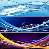 Abstract website banner vector set