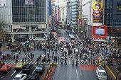 Famoso cruce de Shibuya peatones