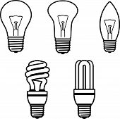 Light Bulbs - Vector illustration