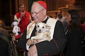Cardinal Dolan with small dog