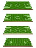 Football Fields 3D Perspective 3