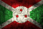 pic of burundi  - Grunge Burundi Flag on old paper background - JPG