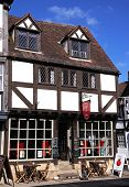 Cafe in Tudor building, Tewkesbury.