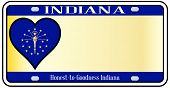 Indiana State License Plate