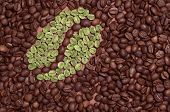 Coffee Bean Made Of Green Coffee
