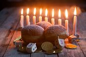 pic of dreidel  - Jewish holiday hannukah symbols  - JPG