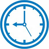 Vector clock dial illustration