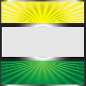 Background Vector-Yellow And Green Sunburst