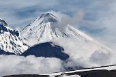 Active Volcanoes Of Kamchatka: Kliuchevskoi And Bezymianny