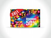 Abstract Colorful Artistic Rainbow Discount Card