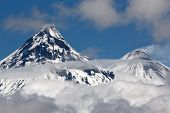 Volcanoes Of Kamchatka Peninsula: Kamen And Kliuchevskoi
