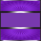 Background-Silver & Purple With Copy Space