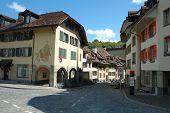 Cobblestone Street In Bern, Switzerland