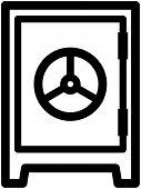 Safe strongbox - Vector illustration