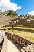 Mysterious City - Machu Picchu, Peru,south America. The Incan Ruins. Example Of Polygonal Masonry An