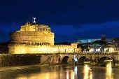 Castel Sant'angelo At Dusk