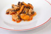 Tapa Of Marinated Mussels
