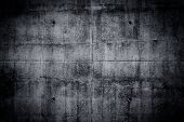 pic of wall-stone  - Grungy concrete wall and floor as background texture - JPG
