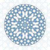 Round Intricate Moorish Eastern Pattern