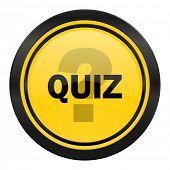 quiz icon, yellow logo,