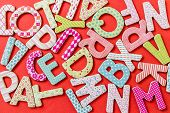 Colorful Letters With Patterns